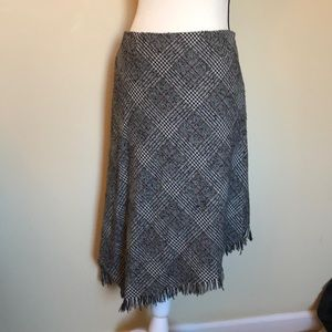 Tribal plaid skirt